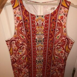 Ornate Paisley Shift Dress